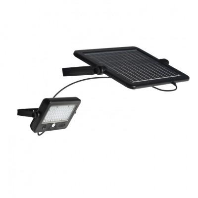 Projecteur détecteur de mouvement 10w led + panneau solaire déporter 1100 lumens