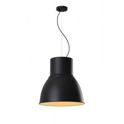 Suspension cloche noire culot e27-39cm-magasin salon suspendu