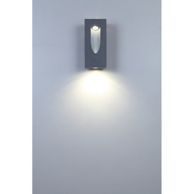 Applique murale exterieur gris anthracite led 12w-910 lumens 3000k