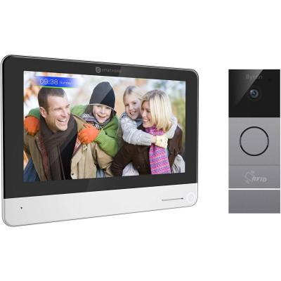 Interphone vidéo wifi kit complet visiophone vision de nuit avec écran couleur 7 pouces 2 fils enregistrement automatique