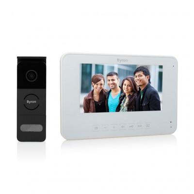 Interphone vidéo kit complet visiophone vision de nuit avec écran couleur 7 pouces 2 fils enregistrement automatique