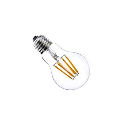 Ampoule led filament culot e27 verre clair-forme standard halogène 800 lumens