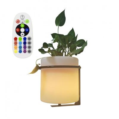 Jardinière étanche rgbw couleurs télécommande extérieur rechargeable nomade lumineux