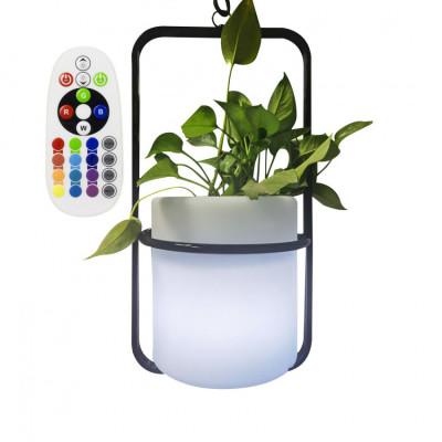 Pot vase étanche rgbw couleurs télécommande extérieur rechargeable nomade lumineux