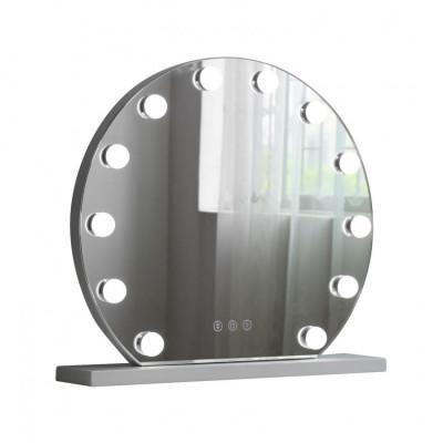 Lampe a poser miroir led 12w loge décoration dressing rond 47cm