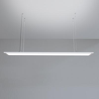 Suspension dalle led lumineux haut et bas 20X120cm cadre aluminium blanc 4000k