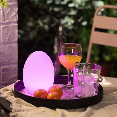 Lampe a poser étanche rgb couleurs télécommande extérieur rechargeable nomade lumineux