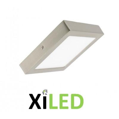 plafonnier carre applique 18w led installation en saillie inox