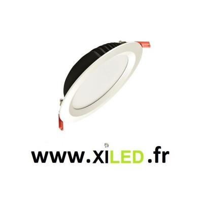 spot downlight led encastrable 25w-2400 lumens blanc encastré 210mm