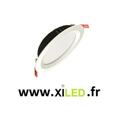 spot downlight rond blanc led encastrable 2800 lumens blanc encastré 210mm