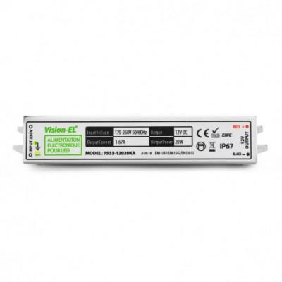 alimentation transformateur de courant spécial LED 20w-12V DC-Étanche ip67