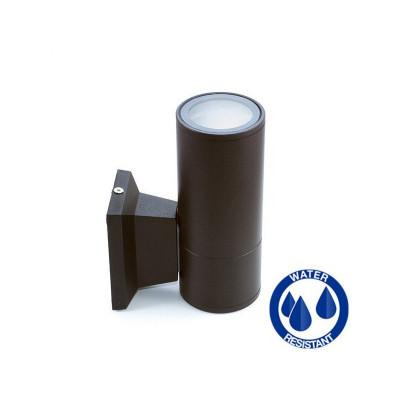 Applique noire simple éclairage ip54 extérieur tube noir gu10