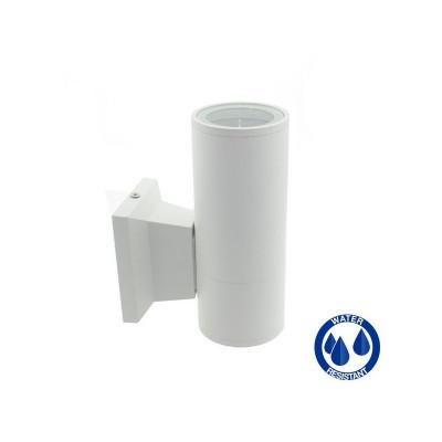 Applique blanche simple éclairage ip54 extérieur tube blanc gu10