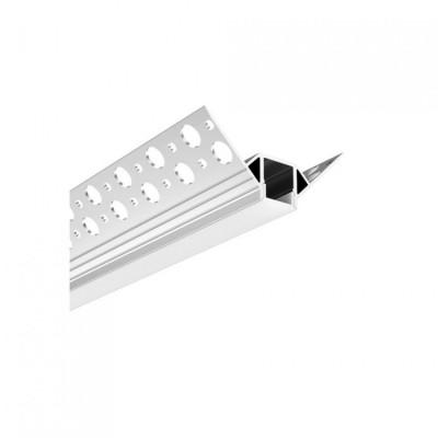 Profil aluminium 1m angle placo pour ruban led