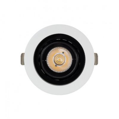 Encastrable 7w rond orientable noir et blanc 80mm-700 lumens-ugr19