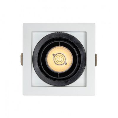 Encastrable 7w carré orientable noir et blanc 82mm-700 lumens-ugr19