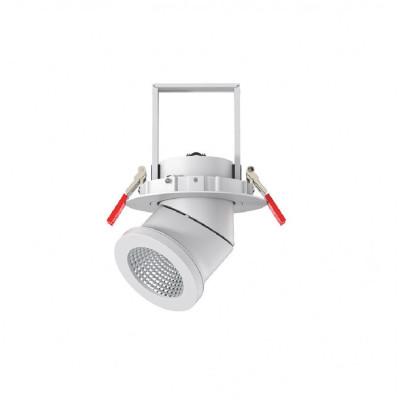 Encastrable 25w escamotable et orientable blanc 125mm-2500 lumens-ip44
