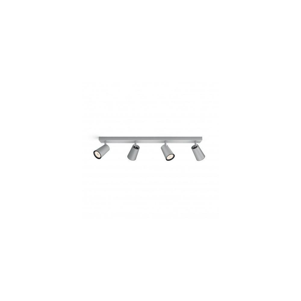 Applique plafonnier Philips gu10 quatre têtes blanc orientable saillie