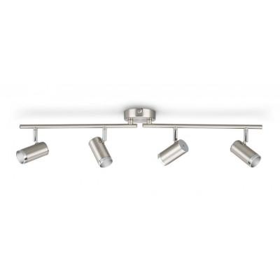 Applique plafonnier Philips 18w led quatre têtes orientable saillie