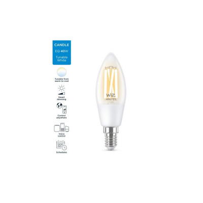 Ampoule 5w e14 filament led cct variable Bluetooth wizmote wifi wiz Philips