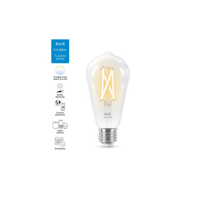 Ampoule e27-7w filament led cct variable Bluetooth wizmote wifi wiz Philips