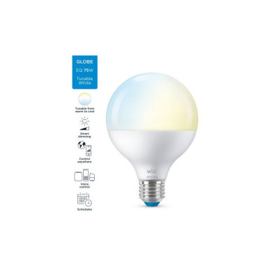 Ampoule e27 8w led cct globe 95mm variable Bluetooth wizmote wifi wiz Philips