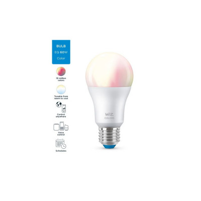 Ampoule e27 8w led rgb+cct variable Bluetooth wizmote wifi wiz Philips