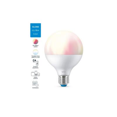Ampoule globe 95mm 11w led rgb+cct variable Bluetooth wizmote wifi wiz Philips
