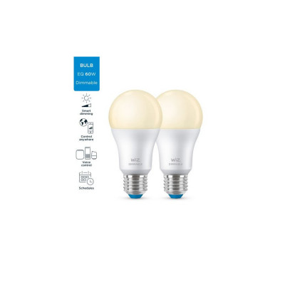 Kit 2 Ampoules e27 8w led 2700k variable Bluetooth wizmote wifi wiz Philips