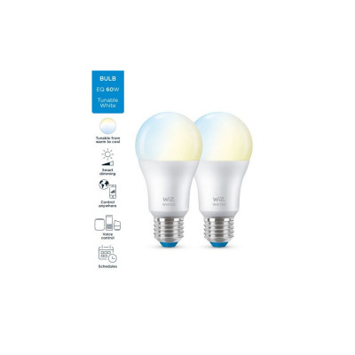 Lot 2 Ampoules e27 8w led cct variable Bluetooth wizmote wifi wiz Philips