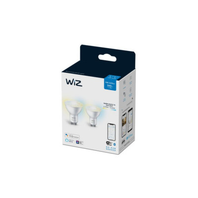 Lot de 2 Ampoules spot gu10 5w led cct variable Bluetooth wizmote wifi wiz Philips
