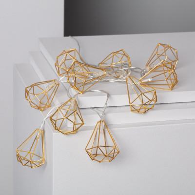 Guirlande solaire 3m lumineuse 10 led décoration blanc chaud 3000k