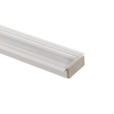 Profilé Aluminium encastré a51 avec diffuseur Continu pour Ruban LED