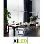 suspension 120cm led suspendu luminaire aluminium bureaux salon commerce 40w