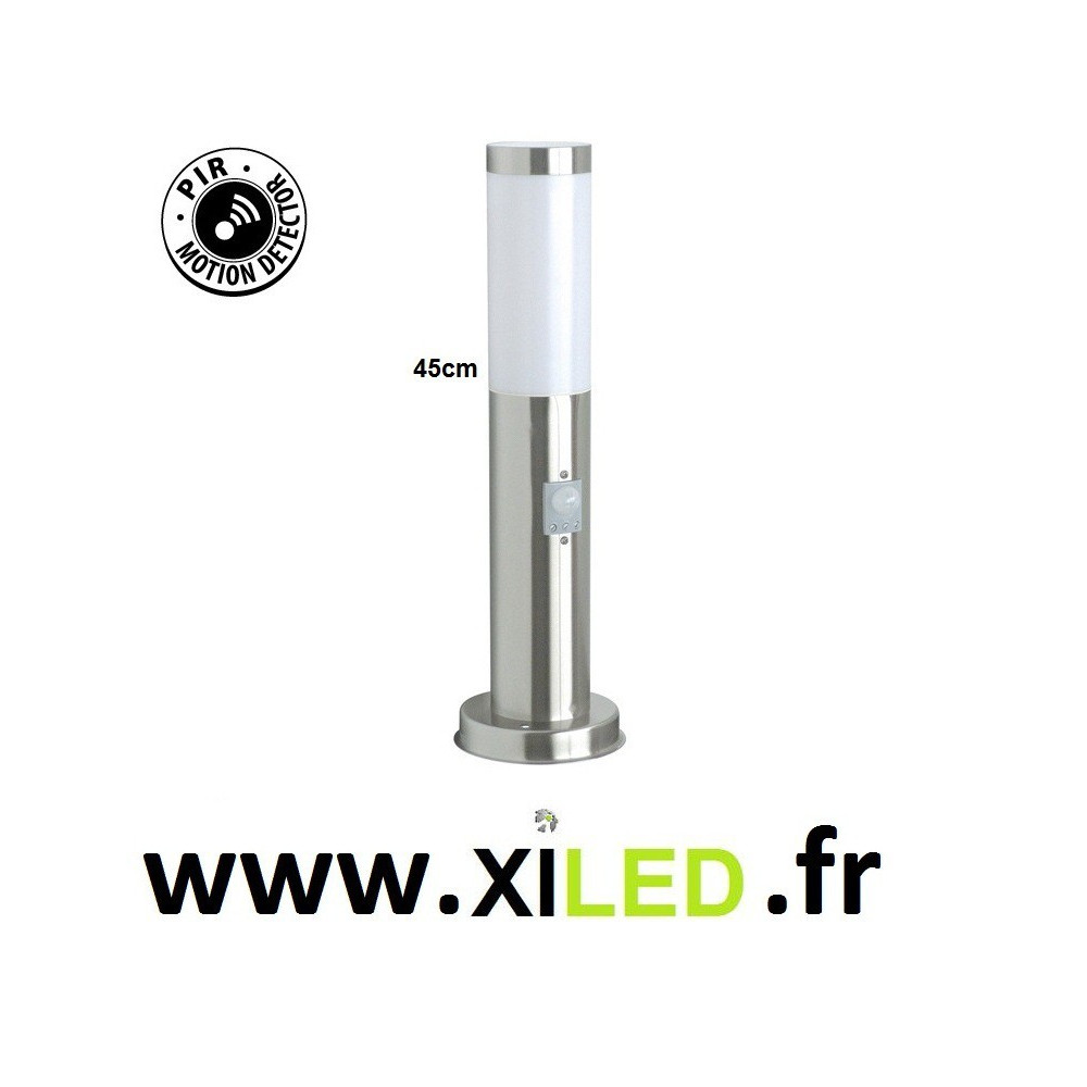 Borne lumineuse avec détecteur de mouvement 45cm
