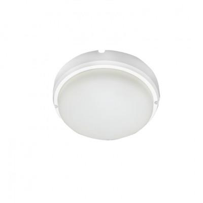 Hublot applique plafonnier ip65-15w extérieur rond blanc
