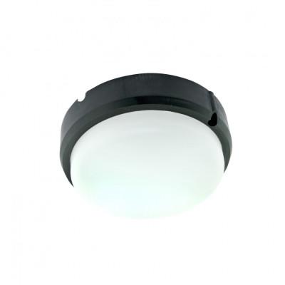 Hublot applique plafonnier ip65-25w extérieur rond noir
