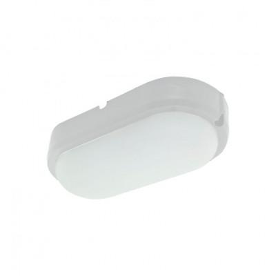 Hublot applique plafonnier ip65-25w extérieur ovale blanc