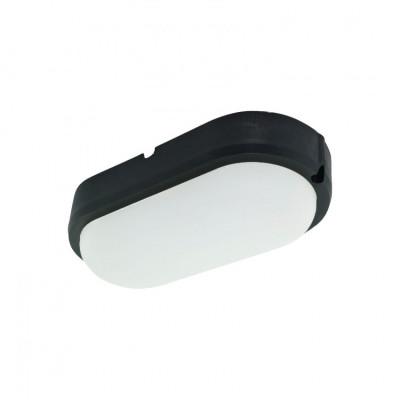 Hublot applique plafonnier ip65-15w extérieur ovale noir